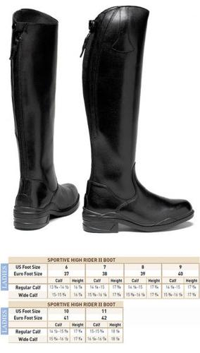Mountain Horse Sportive High Rider II Boots, LADIES 10W