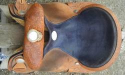 14.5 Silver Supreme Barrel Saddle for sale. Has BCBRA logo on sides. Asking 750.00