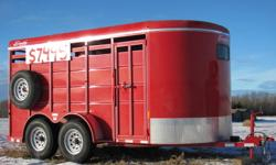 Here's a good high quality 14 foot 2012 Delta trailer featuring: 6' 8'' wide 6' 6'' tall 2 - 5200 lb Dexter axles All axles with brakes ST235/80R16 tires Comes with spare tire Pressure treated pine flooring Two compartments Escape door Rear gate has