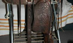 "Big Horn Western Saddle  The seat is 15 -16"" (depending how you measure), it is a quality, solid, older saddle in excellent condition, has rear cinch. Asking $375. Also have a 16"" western saddle for $425 ( with pad, bridle and reins) and a 18"" basic"