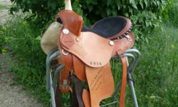 barrel saddle won at local gymkhana.  Not an expensive saddle.  Does not fit my horse.