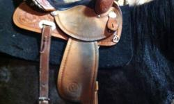 "I have a 15"" Circle Y barrel saddle with SQHB. It's in great shape, the seat still has padding in it and is super comfortable! The only reason I'm selling is because it no longer fits my horse. I'm looking for a used 15"" barrel saddle with FQHB or flex"