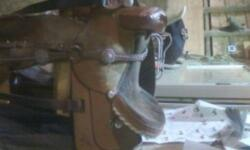 Used barrrel saddle in good condition , 15 inch the american asking $650 or best offer 250-962-8480 or 250-649-9595