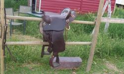 Great Xmas Present!!  BLOWOUT PRICE !!!  15 inch endurance/trail saddle, excellent condition, great starter saddle, air tunnel for cool backed horses, great deal @ $200.00  e-mail to view