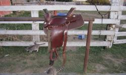 I have a lightly used, clean, comfortable, 15 inch western saddle for sale in excellent condition which includes a brand new cinch and saddle pad (both used maybe 5 times) and a brand new, never been used breast collar, everything you need in a great