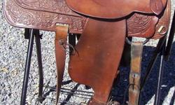 """15"""" Circle Y. Has back cinch and Equitation seat. In wonderful used condition. Please see my other saddle listings. All are very well cared for and always stored inside."""