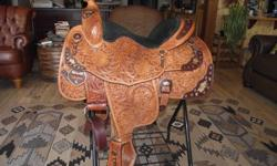 Very lightly used light oil Big Horn Show Saddle for sale.  Has unique brass/copper detail, not silver.  I have always received tons of compliments on this saddle.  Bought a new horse, and it doesn't quite fit, or I would be keeping it.  Always stored in
