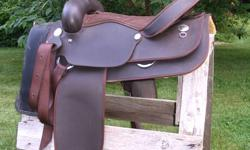 """16"""" Brown Wintec Western Saddle.  Price is firm."""