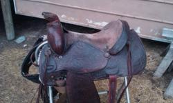 "16"" Circle Y Western Saddle. - 10 years old - good condition. -Full QH Bars. Good quality brand name saddle for a decent price. Please contact me for photos or more information."
