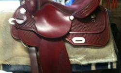 """Rocking R Saddlery ? handmade in Ider, Alabama. From their website (www.rockingrsaddlery.com): """"Rocking R Saddlery, Inc. was established in 1994. Founder, Randall Black, was a second generation saddle maker with over 25 years of experience in saddle"""