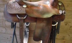 Used Vic Bennett Cutting Saddle For Sale. 16' seat, full QH bars. Great condition.   $2000 OBO. No trades. Serious Inquiries Only!!