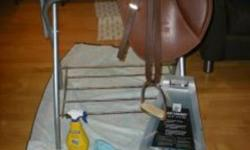 """?17.5"""" Caramel Close Contact CAIR Wintec English Saddle saddly for Sale Comes with: - Comes with state-of-the-art CAIR Air Flocking (http://www.cairpanelsystem.com/flash.htm) - Matching Caramel Wintec stirrup leathers - 4 3/4"""" Korsteel Stirrup Irons with"""