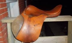 Saddle is in good condition, I am no longer in need as I have a new one. I am asking 150 or BO, matching girth including in price. If interested please contact Megan at (705) 529 5971 or e-mail me.