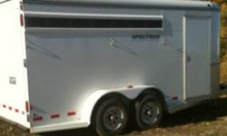 3 horse angle haul horse trailer with front tack in awesome condition. Three saddle racks hooks for bridals spare tire and removable dividers and slats . Please email me if your interested . This ad was posted with the Kijiji Classifieds app.