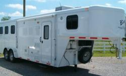 "This is a brand new in stock trailer. Fantastic winter pricing on a well equipped aluminum skin horse trailer.    ***** WINTER PRICING on NOW *******   Standard Features   7' 6"" Interior Height 1-1/2"" Lined Insulated Walls Stud Wall (n/a on 2-Horse"
