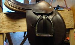 """17.5"""" Barnsby Whitaker close contact saddle (in photo), excellent condition, soft seat, knee roll, very comfortable. Paid over $2500 new. Asking $900 obo. Also, 17.5"""" Barnsby Milton close contact, also in good condition. Asking $750 obo."""