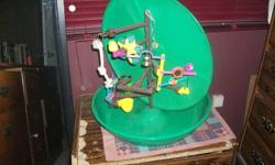 Two bird cages, one brand new one extremeley good condition. 2 cedder rocks , millet, 2 bags of gravel, bird food, bird swing that hangs from celining, bird play ground, toys, bird bath that attaches to cage.   Great for a someone just getting a bird or