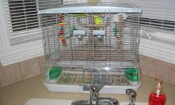 WONDERFUL AND FRIENDLY BUDGIES. THEY COME WITH CAGE AND TOYS.