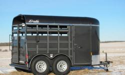 "A HIGH QUALITY LITTLE OUTFIT FOR ONLY $6,995!   The 500 Combo is 12 feet long by 6 feet wide and 6' 6"" tall. Features include: 2-3500 lb axles Both axles with brakes 235/80R16 Tires Comes with full spare tire Escape door 48"" embossed sides Baked on storm"