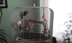 I have 2 sets of love birds.  Asking $100/pair OBO.  Each have their own cages.
