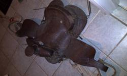 These were my old saddles, but no longer fit my current horse. The brown one I would like 60 for and the red one 100 obo.