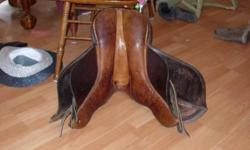 The saddle is in great condition, just isn't the right fit for my horse. The seat/tree is 17 inches, and the width of the tree is 9.5 inches. Also, the tree is sturdy. Going to say its a jumping saddle, but not positive on the make so unsure. Also comes
