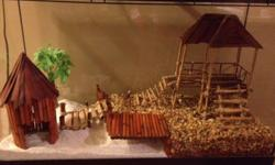 Newly built custom dry aquarium/terrarium guaranteed to amaze. Comes with premium calcium sand and all accessories including heat lamp and bulb, lid, stand etc. worth well over $350. Asking $195. ($160 without the heatlamp)   If this ad is still up, it is