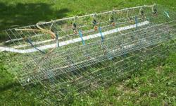 4 sections of chicken or rabbit cages with auto water $20.00 each & 1 without $10.00 also have a side by side fridge that has been turned into a very large incubator and brooder 3/4 finished but have rest of the parts and instructions for you to finish