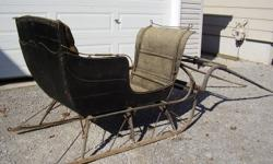 Antique horse cutter made by the Penetanguishene Carriage Company in Penetanguishene, Ontario.  Has been stored in a barn for approximately 50 years.  Needs restoration, but still very solid.  Located 10 minutes north of Barrie, or 10 minutes south of