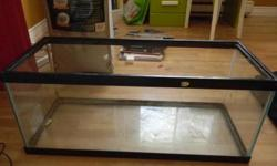 Great aquarium for a reptile, it`s 12inches wide, 13 inches high and 30 inches long. It does has a tiny crack in the black plastic on top, where it melted a bit. Other than that it`s in great shape, no cracks in the glass. Asking $25 obo.