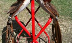 15 barrel saddle for sale. For a horse with high withers. Stored inside. Nice light saddle.