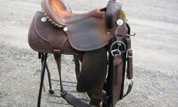 15 inch Pish Barrel Saddle for sale, very comfy, fits most horses, asking $1650 OBO