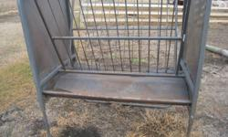 Behlen Hay Rack / Feed Bunk, 310 lbs, heavy duty, rounded corners, powder coated, eliminates Hay waste, height adjustable. $300.00 Ph: 204 339 9538 West St. Paul, MB,