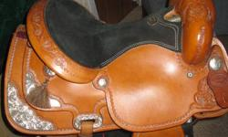 """16"""" saddle in excellent shape. FQHB. Selling for $825. Firm. Was used on a Large Quarter horse. Located in Campbellford"""