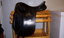 Black 17 inch Kieffer Wein dressage saddle medium wide tree, excellent condition, recently reflocked by professional saddler. New billets. Asking $625