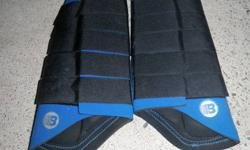 Front and Back Boogaloo Brushing Boots (Blue/Black in color) for sale. Back ones never worn. Front ones also in great shape. Asking $80.00 for both. Call 705 495-8989