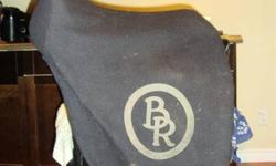 """Sadly offered for sale: BR Vivaldi Dressage Saddle. Black, 17.5"""" seat. Medium-wide tree. Wool-flocked with long billets. Beautifully crafted leather, made in Europe, very deep seat and secure for any rider. Only used lightly for schooling and competition."""