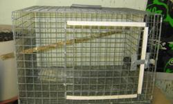 CAGES LARGE CAGE $25.00 MEDIUM $20.00 SMALL $10.00 FOR THE BROWN CAGE AND WHITE CAGE $12.00   IF INTERESTED EMAIL ME.