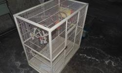 I have a very nice cages for sale $200 dollars for both. include dishes,toys,perch. for any birds. hurry up is a box day.