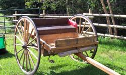solid oak cart for a team $ 800.00    OBO