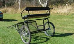 Light horse size Easy Entry cart, (never used) and leather harness, both in excellent condition.Cart has SOLD. Harness will fit a large pony/small horse (ie 14.2 to 15.2 hh The harness is complete with bit, overcheck and britchen. Please contact for more