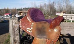 "For Sale! 14.5 "" Circle Y Barrel Saddle ""The Rampage-Proven"". This is a beauty! It has lots of miles in it and lots of life left. The tree is good, horn is still tight and all of the conchos are in tact. There is some wear on the saddle horn and the"