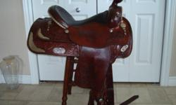 Generous 15.5 seat, lots of real silver on this hand made circle y saddle You wont find many of these older well made saddles especially in this condition!!! .....