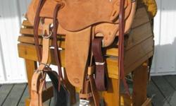 BRAND NEW SADDLE PACKAGE ON SPECIAL - THIS AMAZING DEAL INCLUDES A SET OF MATCHING BUCKING ROLLS, MEMORY FOAM HOSPITAL FELT 'RIDE RIGHT' SADDLE PAD, MOHAIR CINCHA AND A HERMANN OAK BRIDLE AND SPLIT REINS!!   GORGEOUS TOTALLY GO TO WORK MODIFIED WADE SLICK