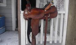"Crates western saddle 151/2 "" semi quarterhorse tree. Very good condition Sue 250 379 2079"
