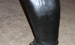 Custom made Denher Field Riding Boots for sale. All leather and hand made. Lace up boot. Ladies size 8. Excellent condition. Brand new Denher boots are now $750.00- $1000.00 Asking $200.00 Linda 306-477-2030 Saskatoon