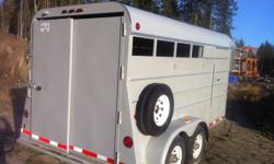 1996 Dex Gooseneck Trailer, 22ft total with 14ft storage (4 horse)with removable tack door. Professionally refurbished with industrial enamel paint, wiring and reflective tape, excellant condition. Must sell.