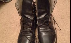 I have a pair of 7 1/2 english riding boots mint condition only thing dog chewed back , no big deal ! Text or call 250 674 1727 or send an email for further information ! This ad was posted with the Kijiji Classifieds app.