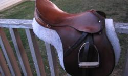 "Selling a 17"" G. Passier & Sohn Hannover saddle and pad along with an English headstall and 5.5 inch Kimberwick snaffle bit.  Asking $800obo.  Excellent condition."