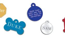 Free shipping on Engraved Dog Tags $6.99, Both sides engraved. Lots of shapes/colors to choose from. Next day shipping. Reflective Dog Collars, one of the most practical collars on the market, Help your dog be seen at night with our 1 inch wide reflective